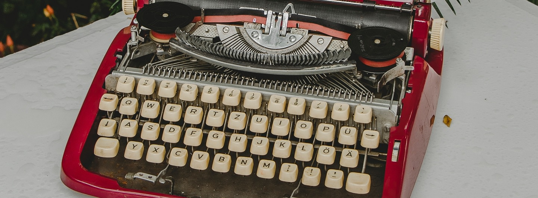 Zum Start des #10minBlog passt eine Schreibmaschine sehr gut