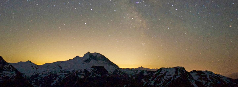 Auszeit - Nachdenken mit Blick auf den Sternenhimmel